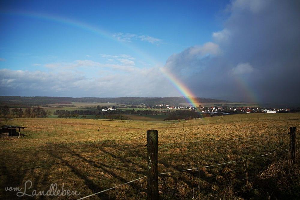 Regenbogen über dem Taunus