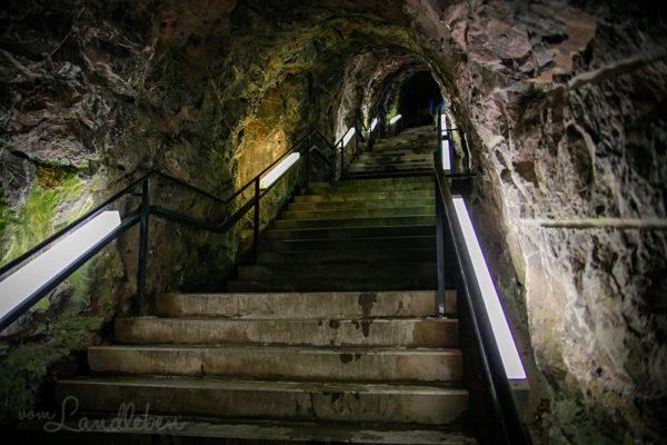 Tunnel zur Felsenkirche in Idar-Oberstein