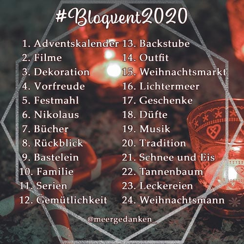 #Blogvent2020 - Themenliste