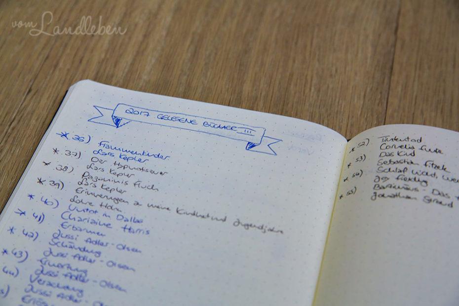 Gelesen-Liste im Bullet Journal