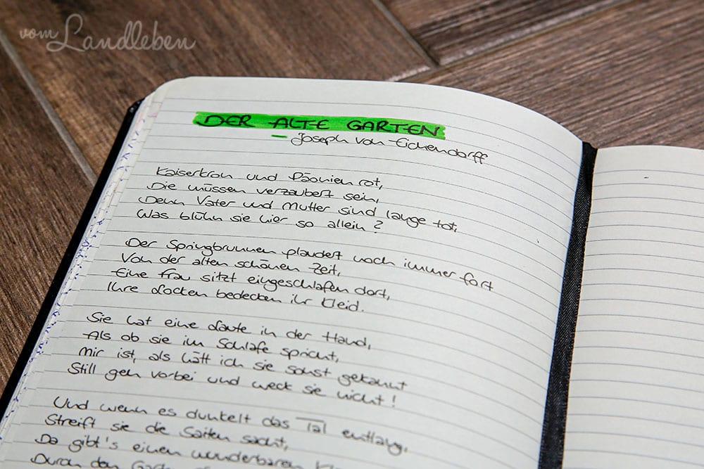 Liniertes Notizbuch