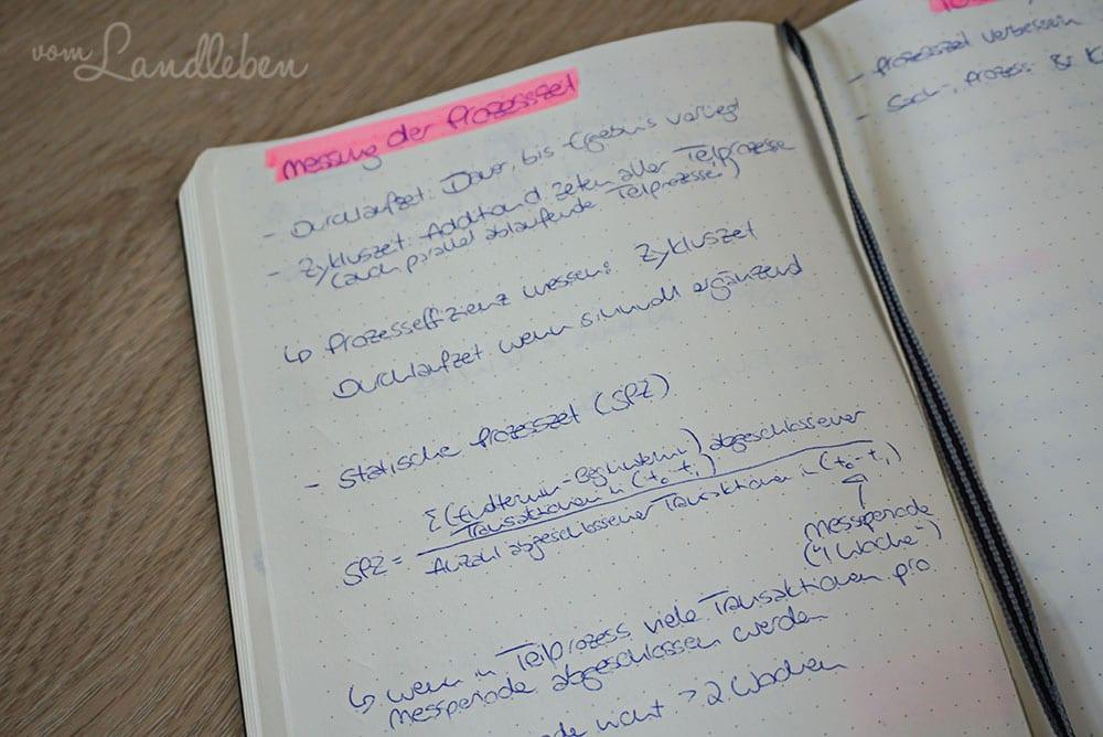 Notizen im Bullet Journal