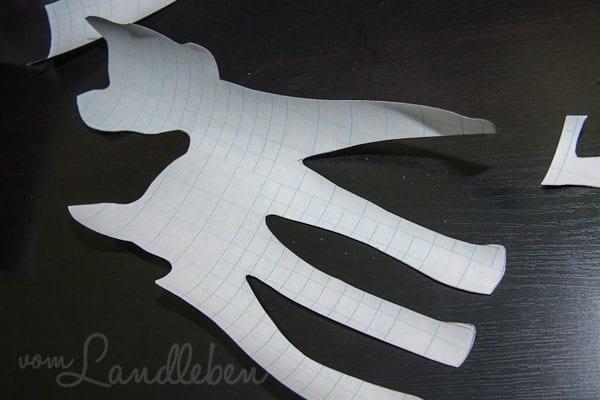 Rehkitz is Metal - DIY-Wanddeko aus Tafelfolie