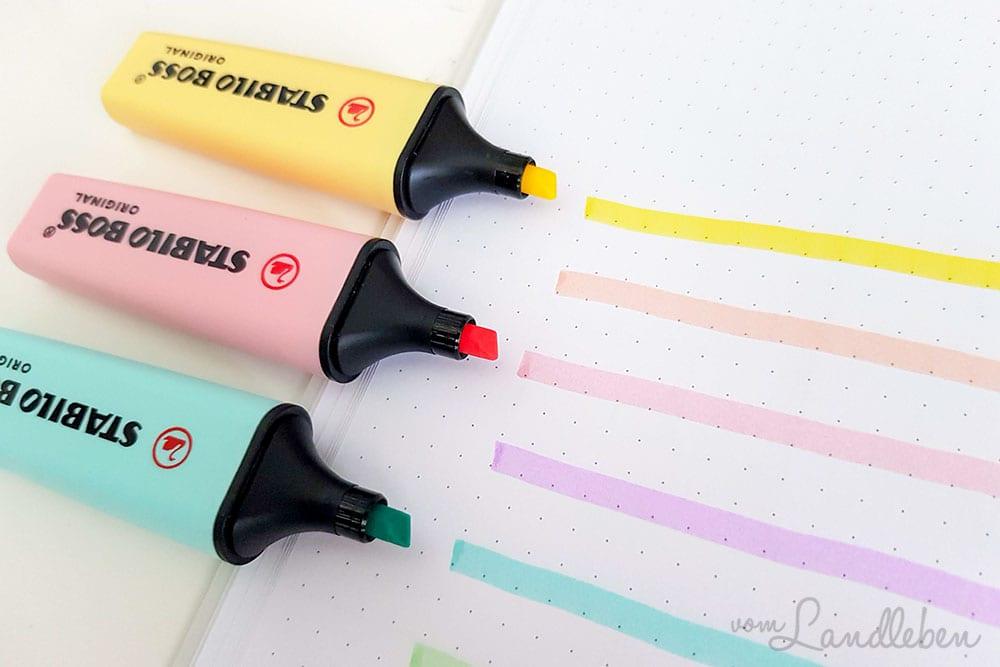 Pastell-Textmarker von Stabilo