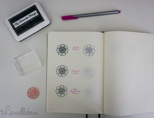 Stempeln im Bullet Journal: welches Stempelkissen?