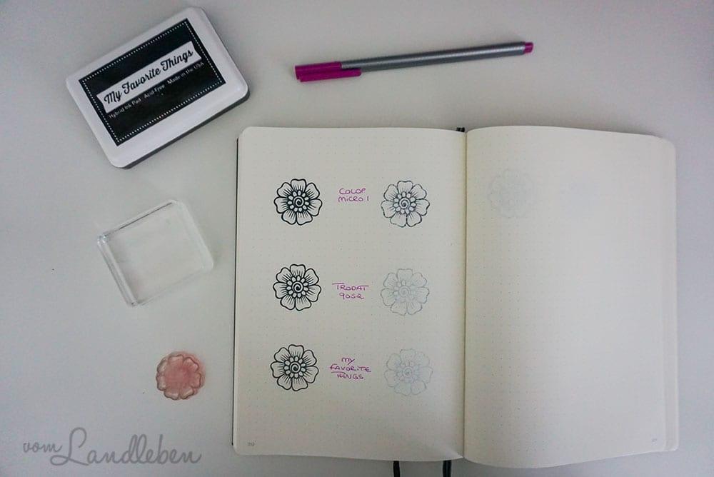 Stempeln im Bullet Journal - welches Stempelkissen?