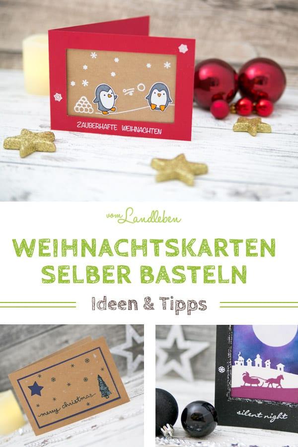 Weihnachtskarten selber basteln - Ideen, Inspirationen und Tipps