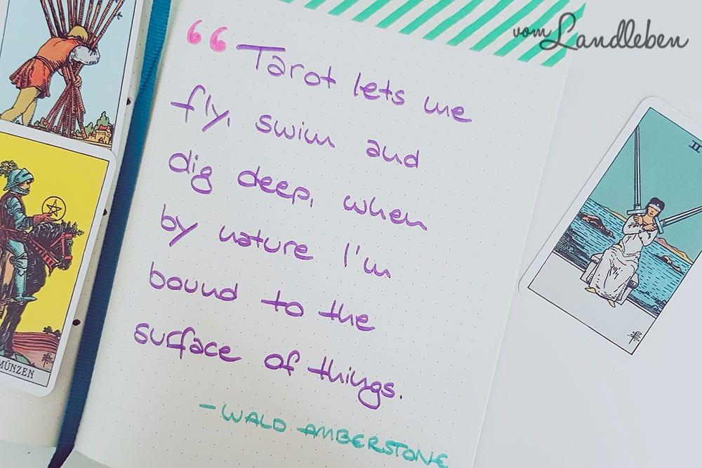 Inspirierende Zitate im Bullet Journal
