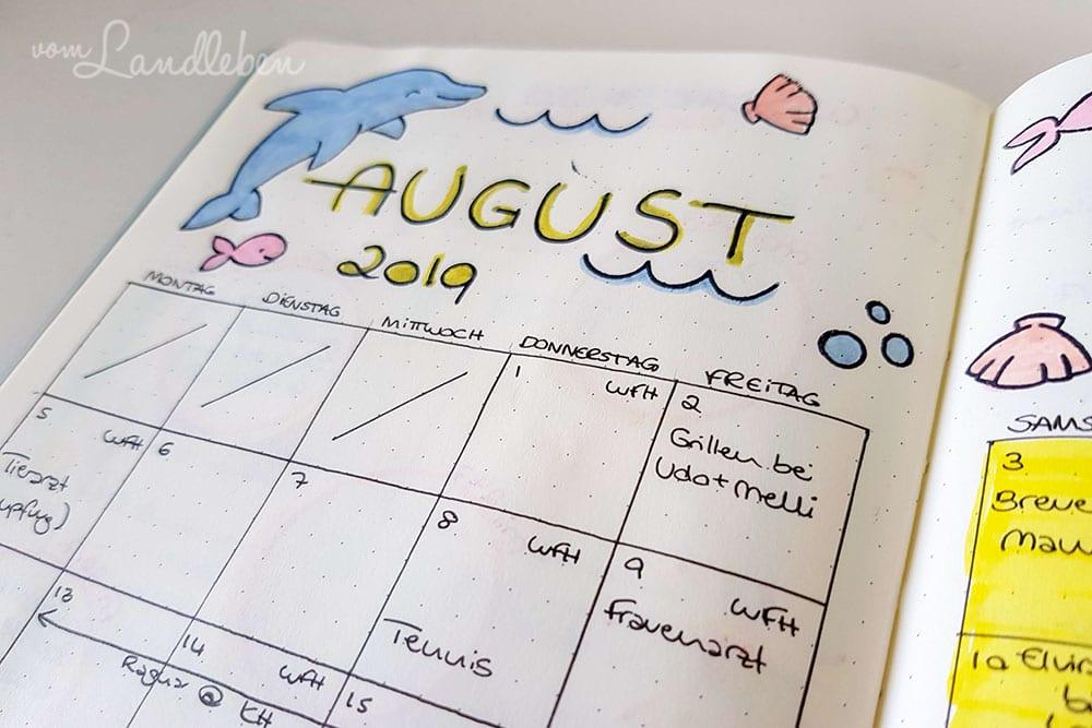 Monthly Log im Bullet Journal