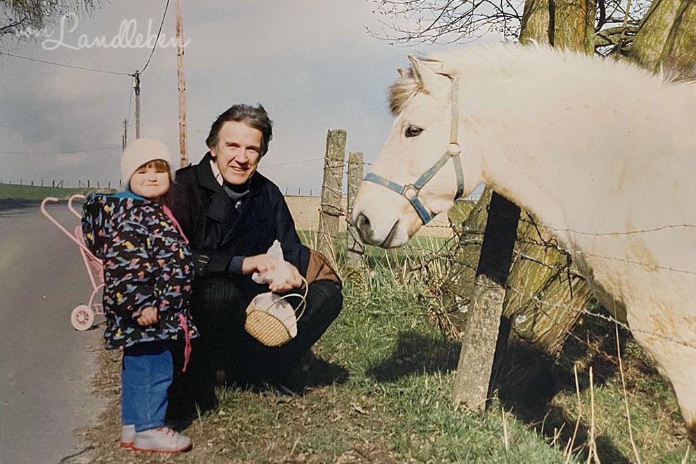 Pferde in der Kindheit - April 1989