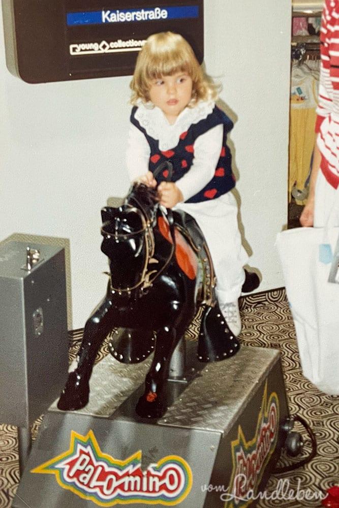 Pferde in der Kindheit - Juni 1989