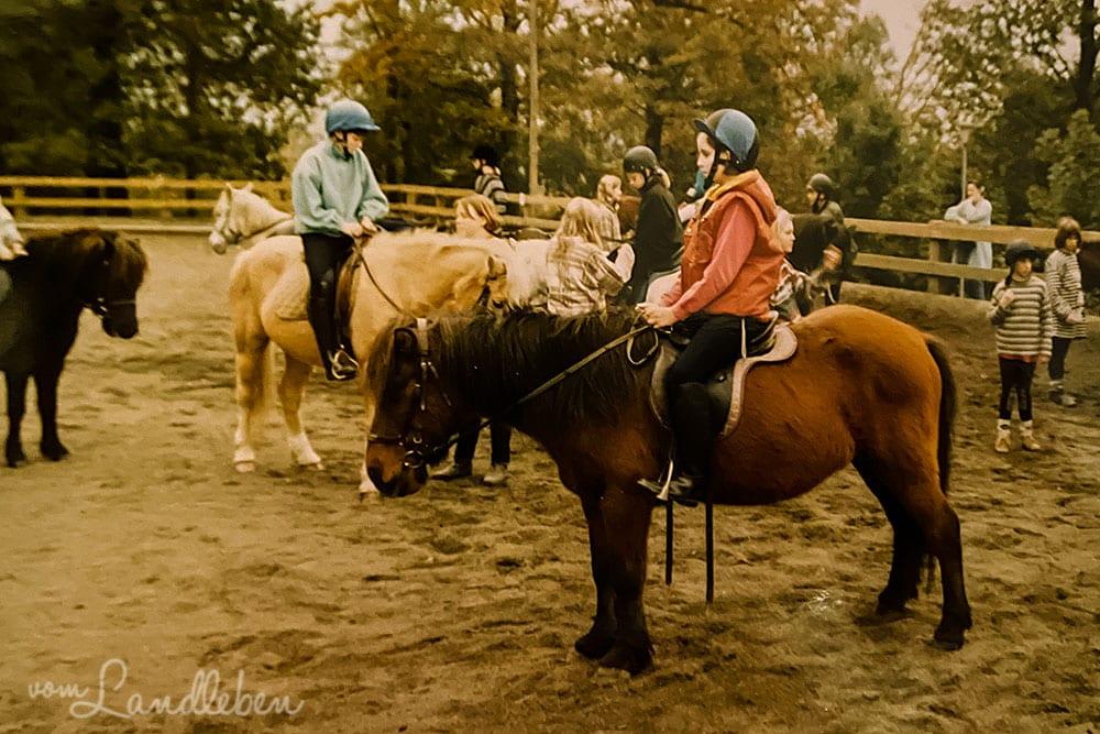 Pferde in der Kindheit - September 1996