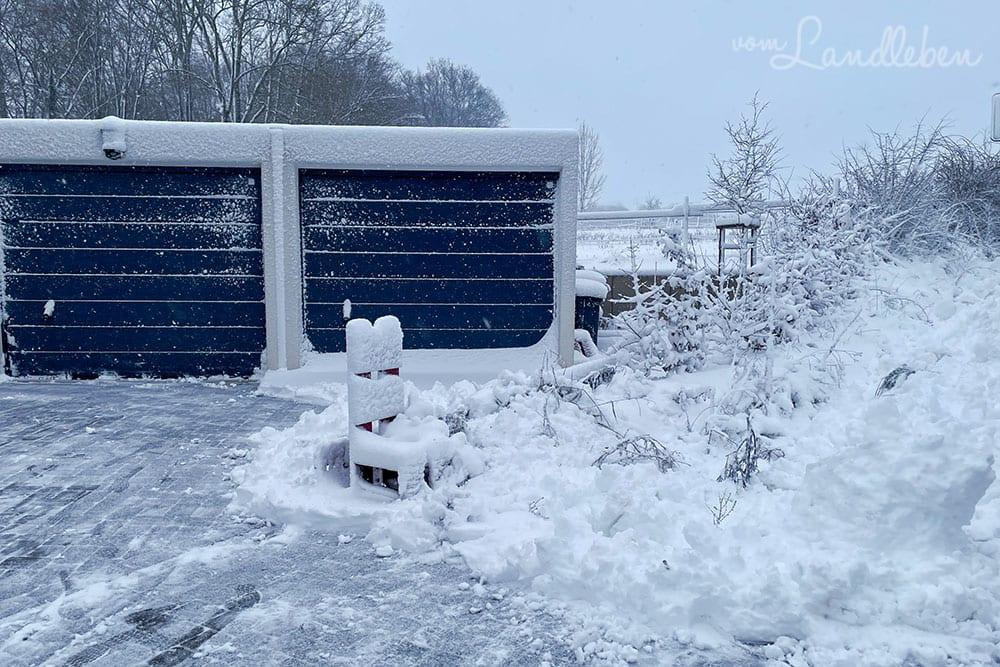 Schnee im Vorgarten - Januar 2021