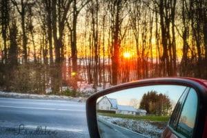 12von12 im Februar 2021 - Sonnenuntergang