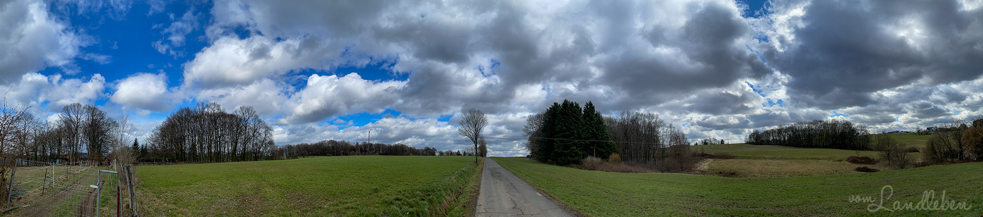 Panorama-Foto vom Himmel