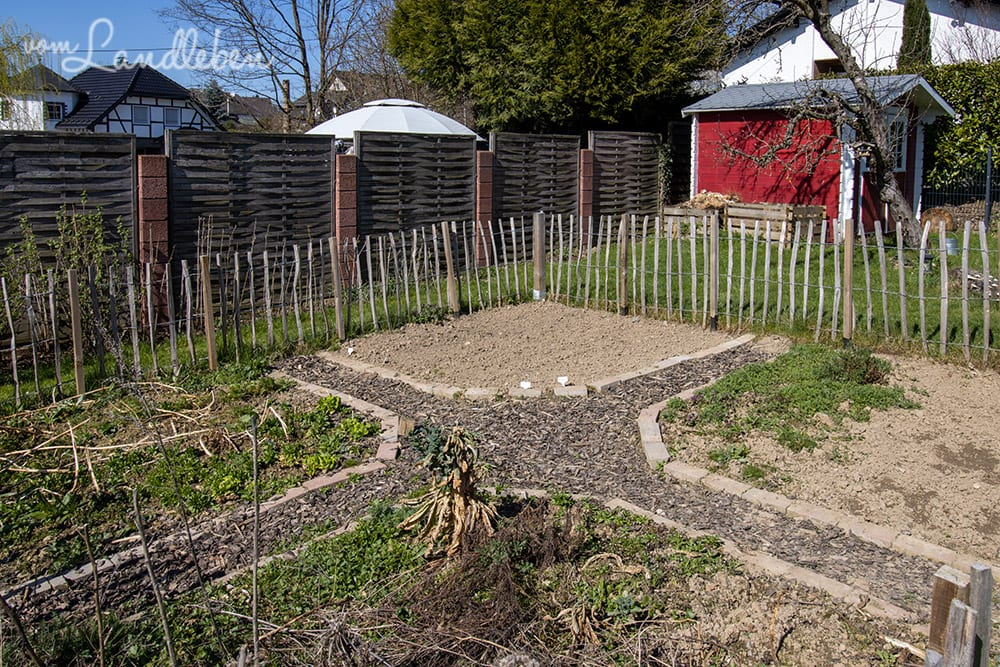 Bauerngarten im März 2021