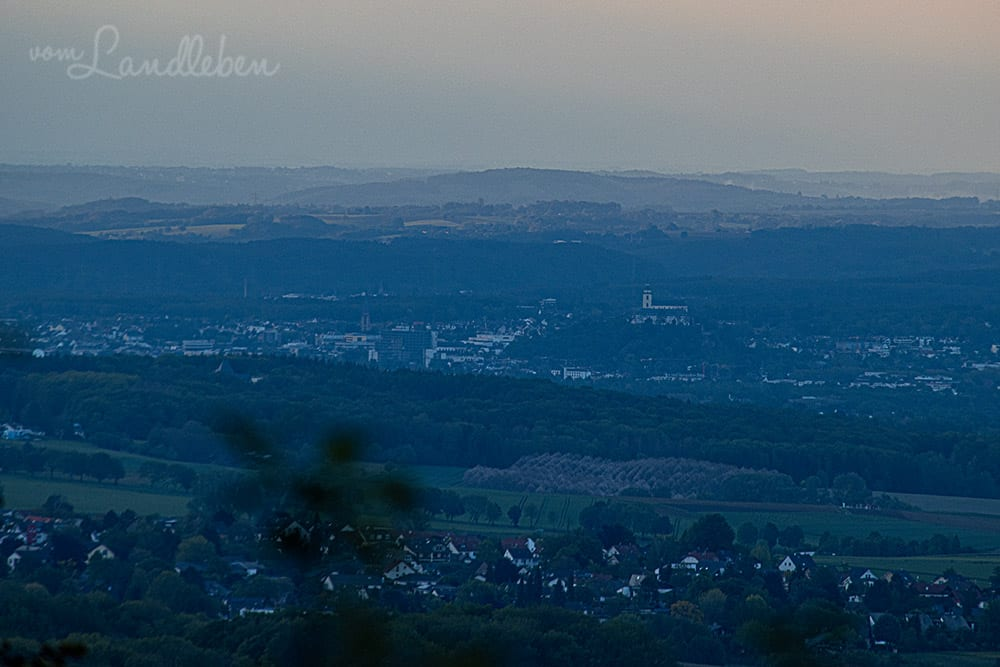 Blick vom Petersberg auf Siegburg