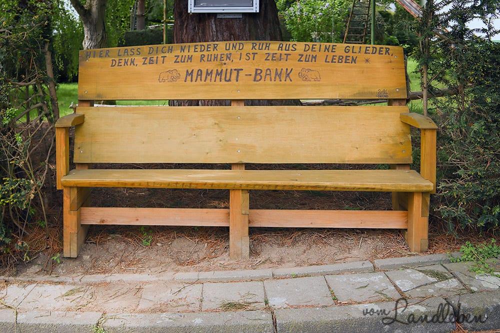 Mammut-Bank in Seelscheid-Hausen