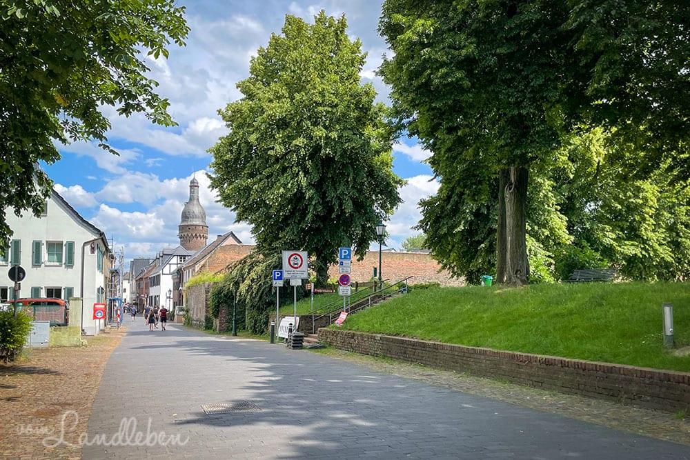 Die Zonser Altstadt mit Blick auf den Juddeturm